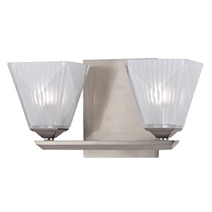 Hammond Satin Nickel Two-Light Bath Light Fixture