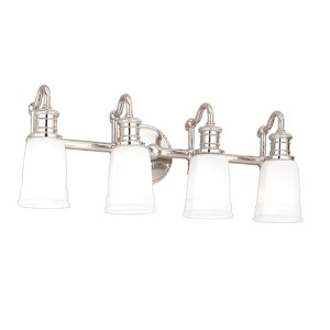Bradford Polished Nickel Four-Light Bath Fixture