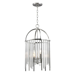 Lewis Polished Nickel Four-Light Pendant