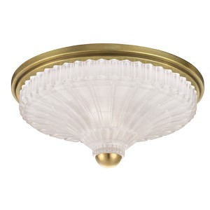 Paris Aged Brass Two-Light Flush Mount