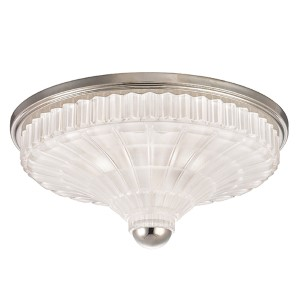 Paris Polished Nickel Three-Light Flush Mount