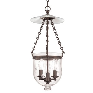 Hampton Old Bronze Three-Light Mini Pendant