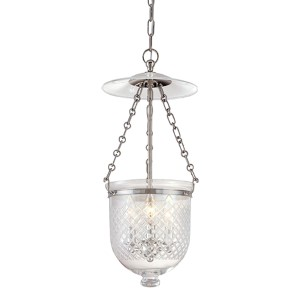 Hampton Polished Nickel Lantern Mini Pendant