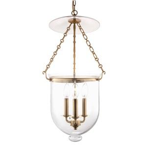Hampton Small Aged Brass Urn Pendant