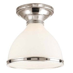 Randolph Polished Nickel Semi Flush