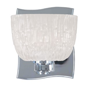 Cove Neck Polished Chrome One-Light Bath Light