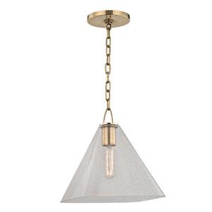 Sanderson Aged Brass Eleven-Inch Pendant