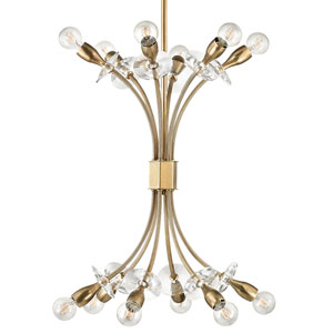 Alexandria Aged Brass 12-Light Mini Chandelier