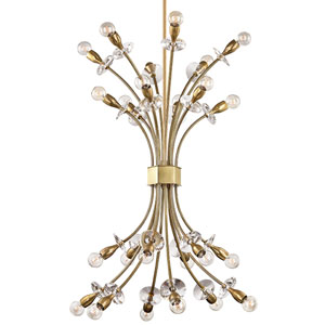 Alexandria Aged Brass 24-Light Chandelier