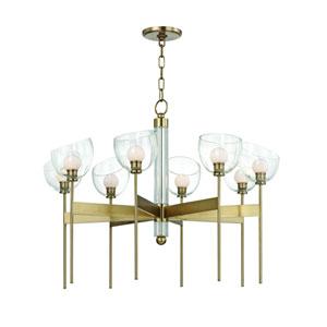 Davis Aged Brass Eight-Light LED Chandelier