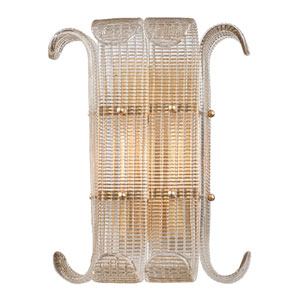 Brasher Aged Brass Two-Light Wall Sconce