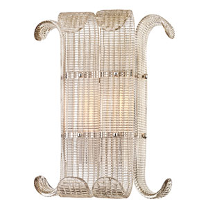 Brasher Polished Nickel Two-Light Wall Sconce