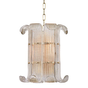 Brasher Aged Brass Four-Light Pendant