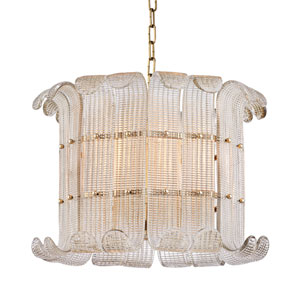 Brasher Aged Brass Eight-Light Pendant