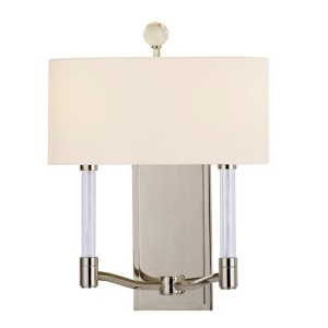 Waterloo Polished Nickel Two-Light Wall Sconce