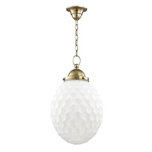 Columbia Aged Brass Twelve-Inch Mini Pendant