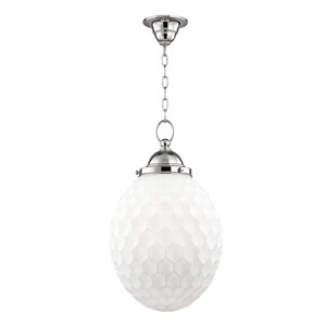 Columbia Polished Nickel Twelve-Inch Mini Pendant