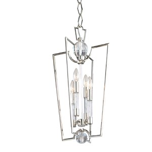 Waterloo Polished Nickel Four-Light Pendant