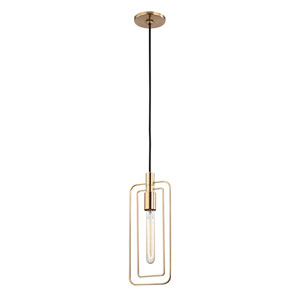 Masonville Aged Brass One-Light Pendant