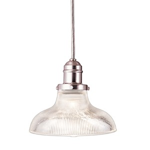 Vintage Satin Nickel One-Light Mini Pendant