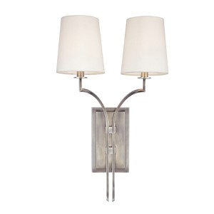 Glenford Antique Nickel Two-Light Wall Sconce