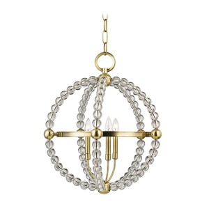 Danville Aged Brass Three-Light Pendant