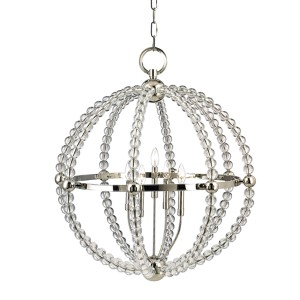 Danville Polished Nickel Three-Light Pendant