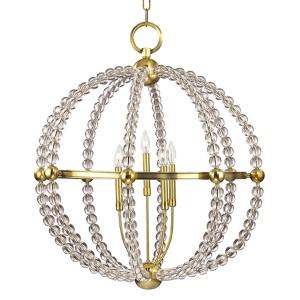 Danville Aged Brass Five-Light Chandelier