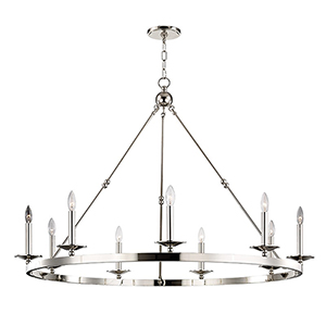 Allendale Polished Nickel 9-Light 46.75-Inch Chandelier