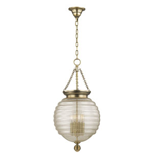 Coolidge Aged Brass Four-Light Pendant