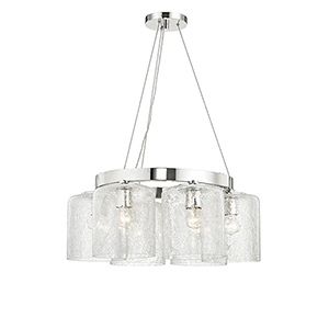 Charles Polished Nickel 6-Light 24-Inch Chandelier