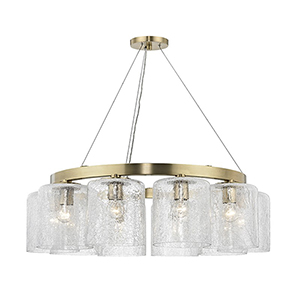 Charles Aged Brass 10-Light 34.5-Inch Chandelier