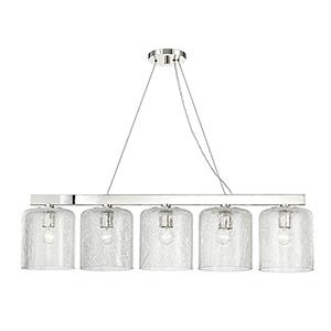 Charles Polished Nickel 5-Light 40.5-Inch Island Light
