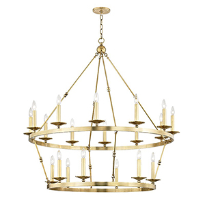 Allendale Aged Brass 20-Light 46.75-Inch Chandelier