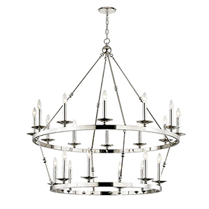 Allendale Polished Nickel 20-Light 46.75-Inch Chandelier