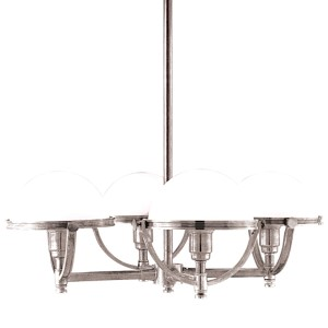 Stratford Polished Nickel Four-Light Chandelier