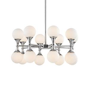 Astoria Polished Chrome LED 27-Inch 16-Light Chandelier