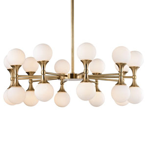 Astoria Aged Brass LED 36-Inch 20-Light Chandelier