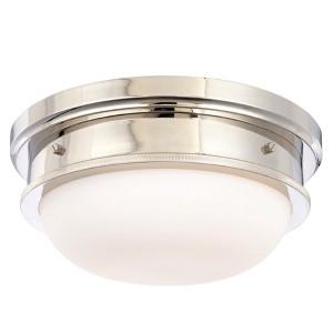 Trumbull Polished Nickel Three-Light Flush Ceiling Light