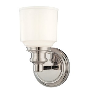 Windham Polished Nickel One-Light Bath Fixture
