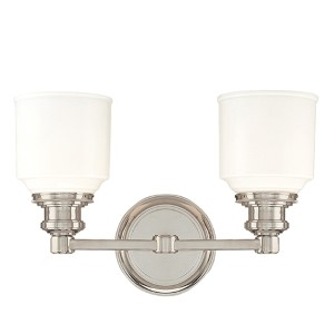 Windham Polished Nickel Two-Light Bath Light