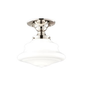Petersburg Polished Nickel Semi Flush