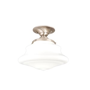 Petersburg Satin Nickel Semi Flush