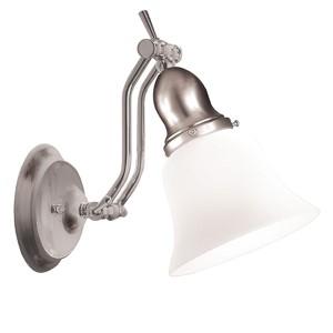 Adjustables Satin Nickel One Light Bath Fixture