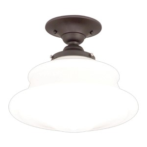 Petersburg Old Bronze 13-Inch Semi Flush