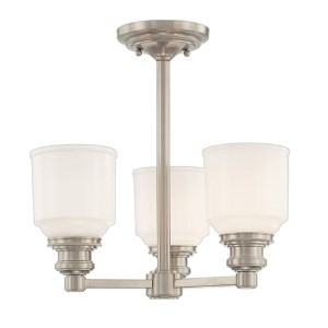 Windham Satin Nickel Three-Light Chandelier