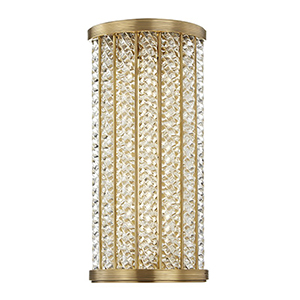 Shelby Aged Brass LED 6.5-Inch Bath Light