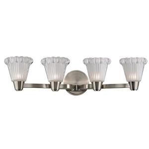 Varick Satin Nickel Four-Light Bath Vanity