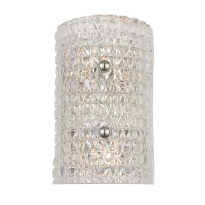 Westville Polished Nickel Two-Light Wall Sconce with Clear Glass