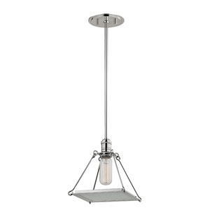 Thorndike Polished Nickel One-Light Pendant